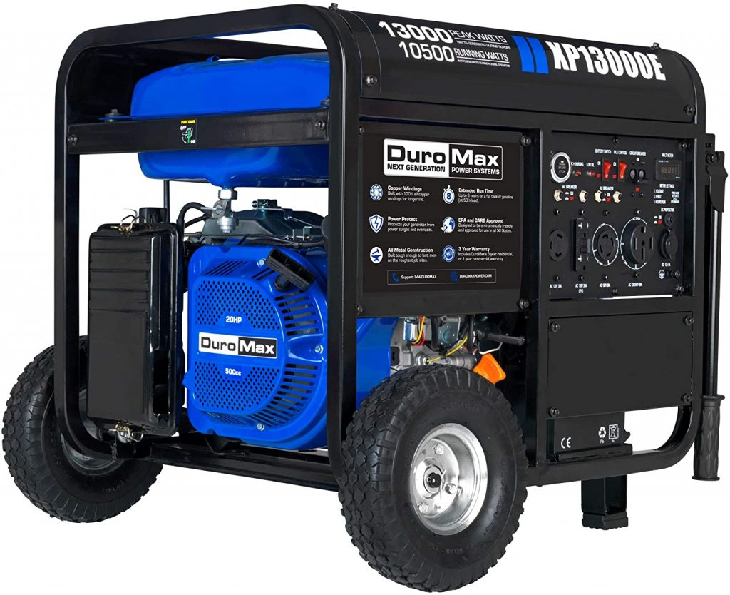 DuroMax XP13000E Gas Portable Generator